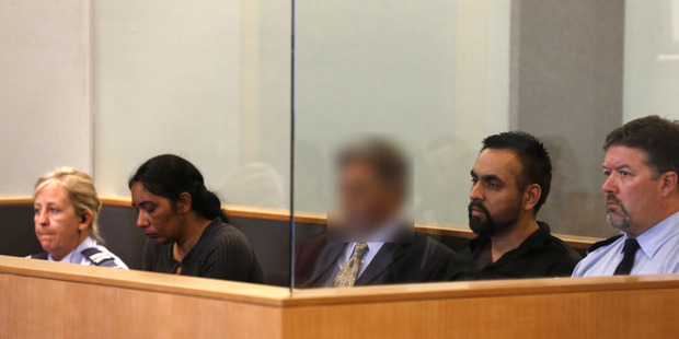 Amandeep Kaur (L) and Gurjinder Singh (R) at the Auckland High Court for sentancing over the Murder of Davender Singh. Photo / Dean Purcell