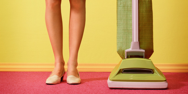 Thirty minutes of vacuuming has the same effect as 15 minutes of kickboxing. Photo / Getty