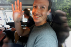 Facebook founder Mark Zuckerberg in New Delhi, India. Zuckerberg visited India as part of the Facebook plan to extend internet access across the country. Photo / Getty