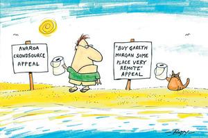 Cartoon: Awaroa crowdsource appeal