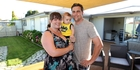 Greg and Annette Brosnan, pictured with their 6-month-old son Daniel, are moving house after their Napier home sold for $65,000 above ratings valuation after one week on the market.