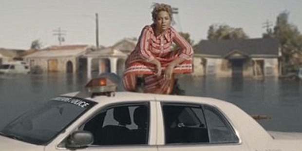 Beyonce in her new music video. She is set to give this year's Super Bowl a political edge. Photo / Beyonce / YouTube