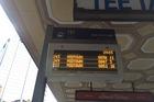 Bus delays as action begins