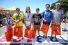 The newest Jetstar Super Swim squad members, Sophie Robb (left), Te Manewha Rikihana, Tamrah Titcombe, Pierce Collins, Sophie Irving and Daniel Shanahan. Photo / Simon Watts