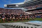 The All Blacks performing the haka at Soldier Field. Photo / Getty