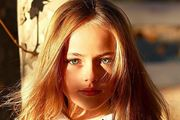 10-year-old Kristina Pimenova has been signed to LA models. Photo / Instagram
