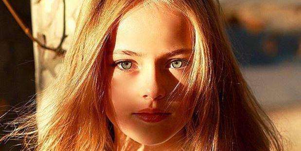 10-year-old Kristina Pimenova has been signed to LA models. Photo / Instagram
