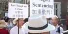 Watch: Watch: Chinese community protest outside High Court