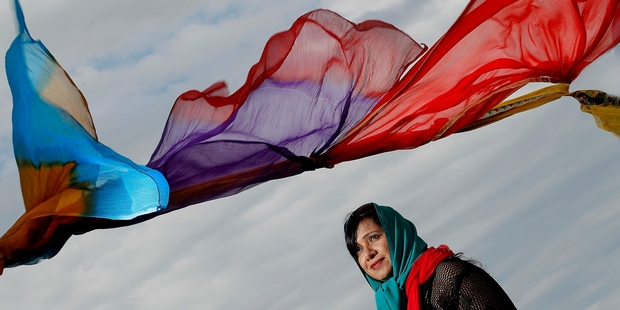 RJ Payal, who is helping organise the Holi Festival, gets into the spirit of the Festival of Colour which is being held at Tauranga's waterfront later this month. Photo / John Borren
