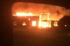 Firefighters battle large blaze in South Taranaki