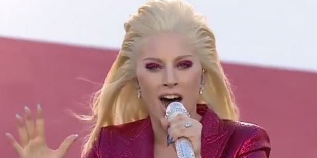 Lady Gaga remained true to the Star-Spangled Banner during her performance before the 2016 annual Super Bowl today.