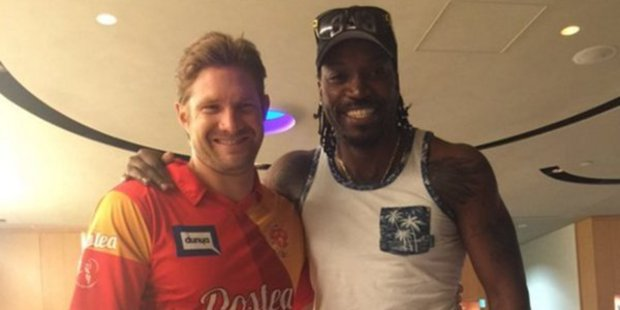 Shane Watson and Chris Gayle appear to have overcome their bad blood ahead of their Indian Premier League campaign with the Royal Challengers. Photo/cricket.com.au