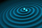 An artist's impression of gravitational waves generated by binary neutron stars. Photo / R. Hurt/Caltech-JPL supplied via NASA