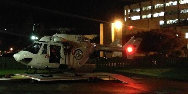One person was taken to Palmerston North Hospital. Photo / Palmerston North Rescue Helicopter