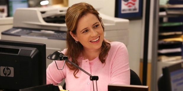 Actress Jenna Fischer in The Office.