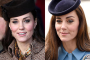 On the left, Kate in 2014. On the right, Kate yesterday. Photo / Getty