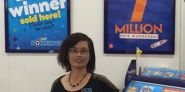 Another big win has been notched up for Linda Zeng of Tauranga downtown's AJ's Lotto. Photo/supplied.