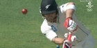 Watch: McCullum out early in his 100th Test