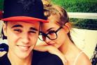 Justin Bieber and Hailey Baldwin. Photo / Instagram