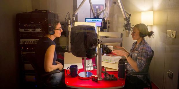 Sarah Koenig and Dana Chivvis recording an episode of Serial. Photo / Elise Bergerson