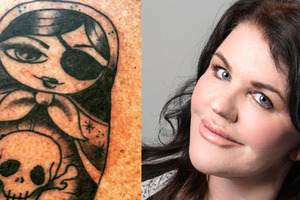 Polly Gillespie's beau tattoos her name
