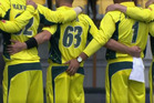 Advance Australia Fear: The Australian side gets carried away during the national anthem. Photo / Supplied / Crowd Goes Wild