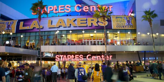 The Staples Center hosts major sporting events and pop concerts. Photo / 123RF