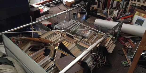 Loading Photo posted to Twitter by Matthew Walker, showing immediate damage from today's earthquake in Christchurch.