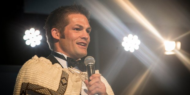 Richie McCaw was named as the KiwiBank New Zealander of the Year tonight. Photo / Greg Bowker