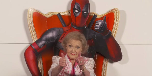 Loading Actress Betty White reviews the movie Deadpool.