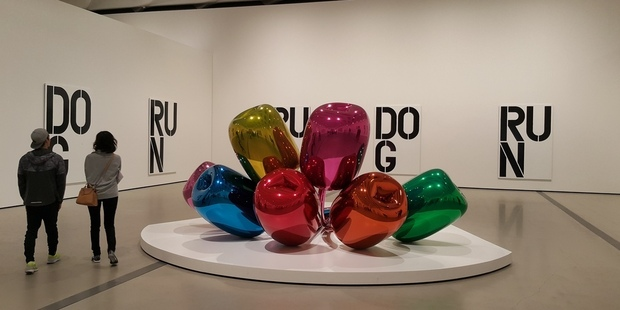 Jeff Koons' Tulips at the Broad Musuem. Photo / Chris Lynch