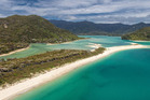 Abel Tasman National Park's Awaroa Inlet, is currently up for grabs for $2 million. Supplied 25th January 2016 and used with the permission of Bayleys NZH 26Jan16 - The privately owned b