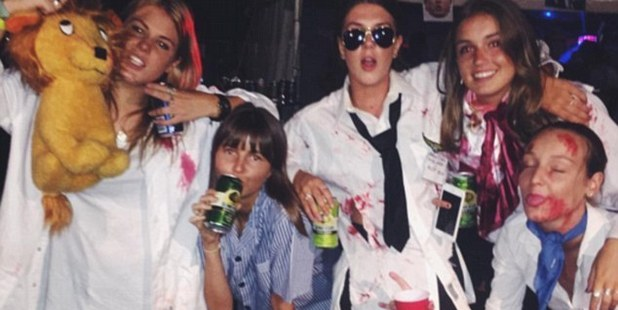 Brooke Warne, far left, has come under fire for this Instagram post. Photo / Brooke Warne / Instagram