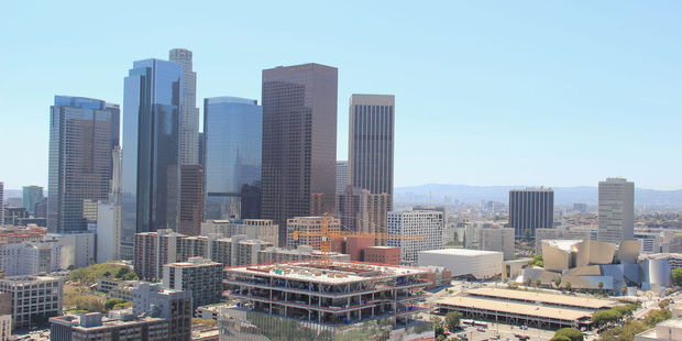 Downtown Los Angeles is in the middle of an ongoing construction boom. Photo / 123RF