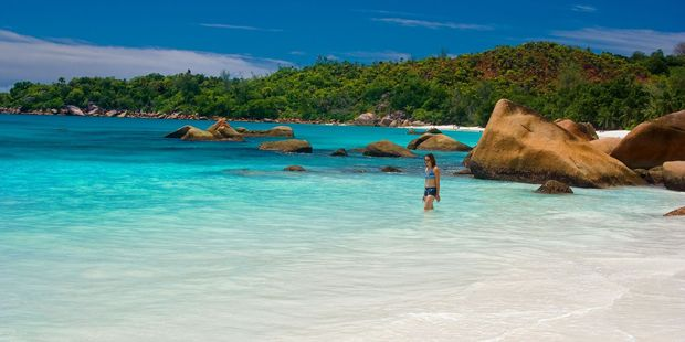 Anse Lazio on Praslin Island in the Seychelles has been described as 'picture perfect'. Photo / 123RF