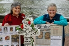 Leigh Bixley (left) and Coleen Davey at a previous Feeling for Folk of Murder Victims annual memorial service at Hastings.