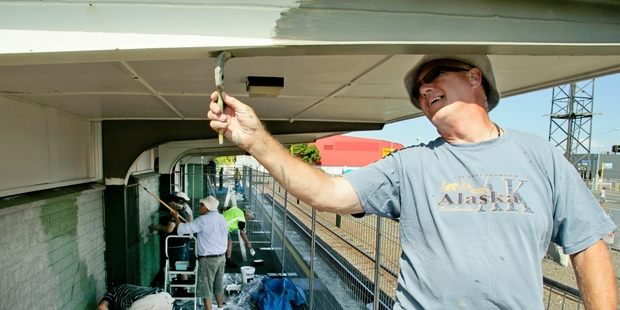 Saturday became paint day for Sam Browne of the Hastings Host Lions as the station got a much-needed makeover.