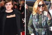Adele in 2008 (left) and at the end of 2015. Photos / Getty