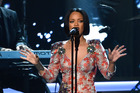 Rihanna pulled out of the Grammys at the last minute due to illness. Photo/AP