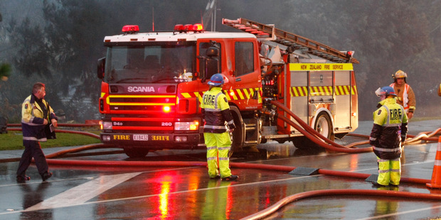 Loading Fire crews headed to the fire just before 2.30am today. Photo / File