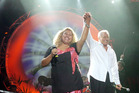 040206sp1 NZ Idol Rosita Vai performs with Sir Howard Morrison at the Lakeside 2006 concert in Rotorua. 4 February 2006 Daily Post Photograph by Stephen Parker ROT 6feb06 - 040206sp1 NZ IDOL