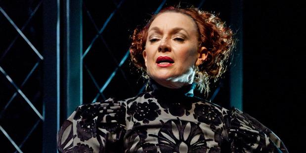 Acting royalty: Elizabeth Hawthorne on stage.