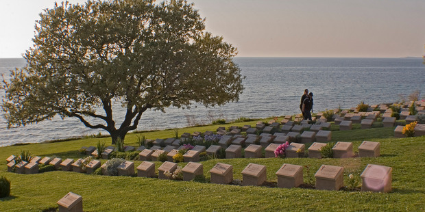 The Anzac Cove beach cemetery. Photo / Kevin Taylor