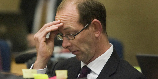 David Bain listens to evidence during his 2009 re-trial in the High Court, Christchurch. File photo