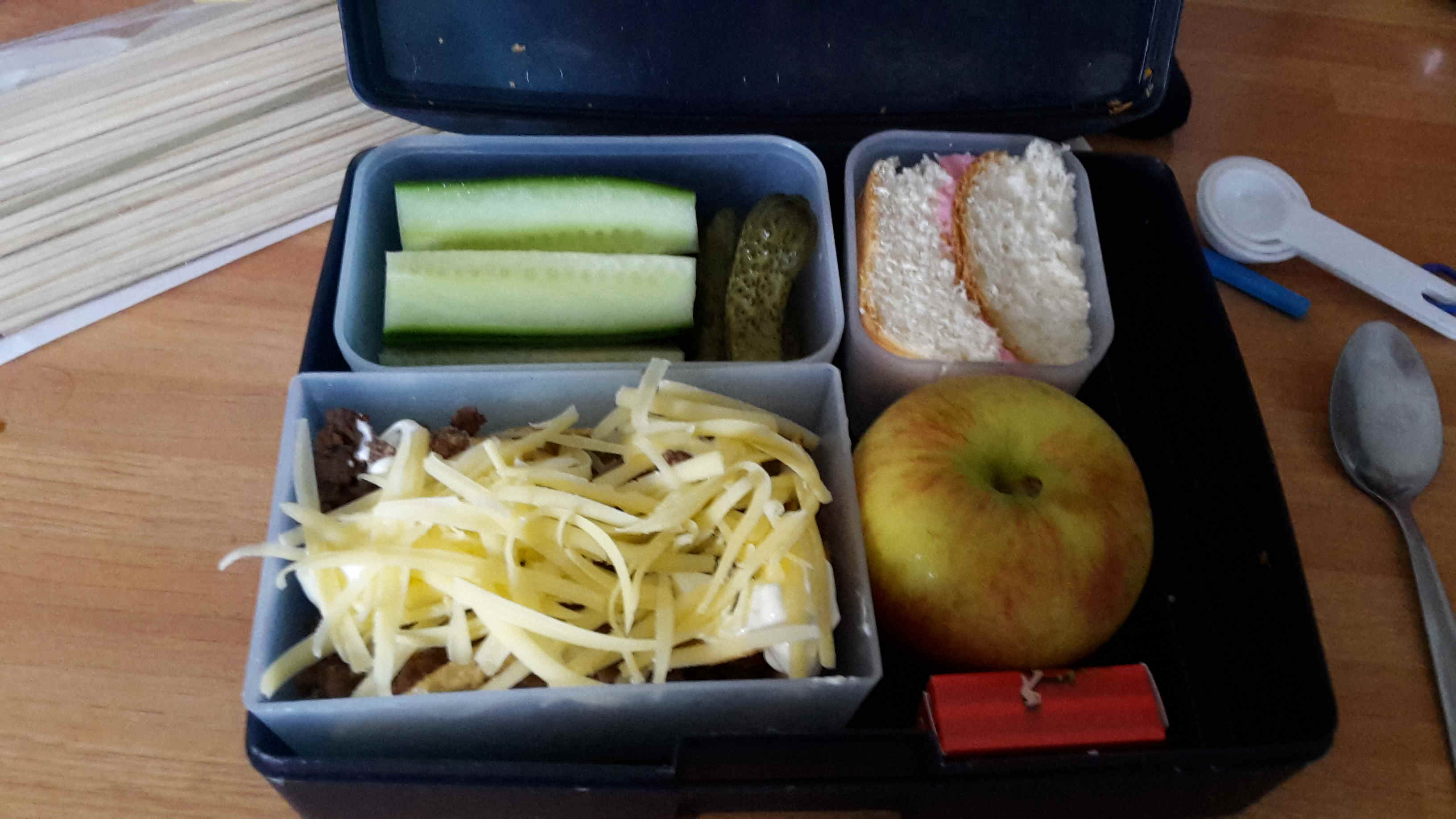 Christine Strydom says she keeps her kids' lunches real and to the family's means. Photo / Supplied