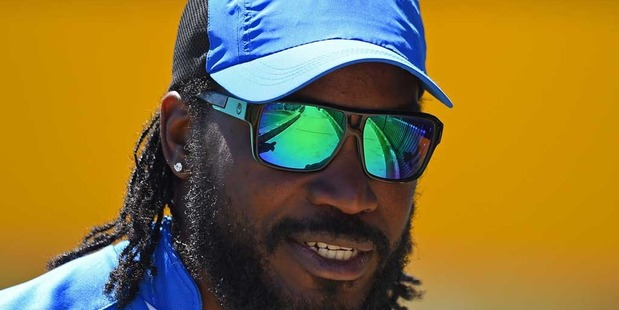 """Chris Gayle has mocked the reaction to his controversial Big Bash League interview with sports reporter Mel McLaughlin by repeating his infamous """"don't blush"""" line. Photo / Getty."""