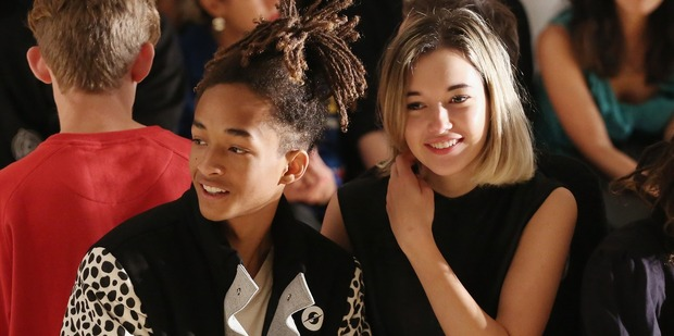 Jaden Smith and his girlfriend Sarah Snyder. Photo / Getty Images