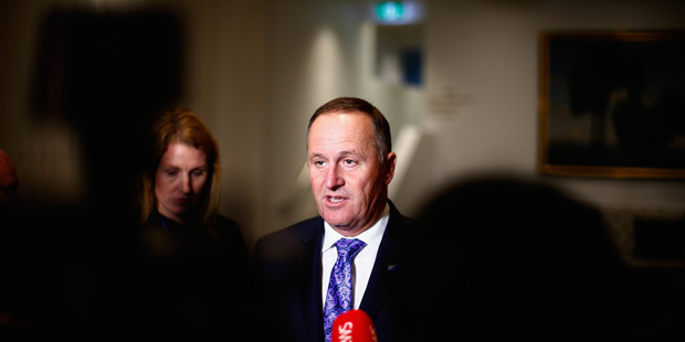John Key said this afternoon that his caucus was free to vote for whichever flag it liked. Photo / Getty Images