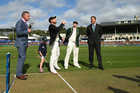 Steve Smith won an important toss for Australia at the Basin Reserve. Photo / Getty