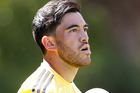 Nehe Milner-Skudder watches on during the pre-season match against the Blues. Photo / Getty